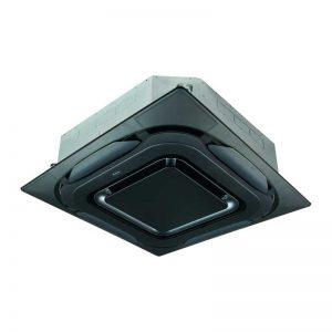 kasetinis oro kondicionierius daikin roundflow juodas dizainas
